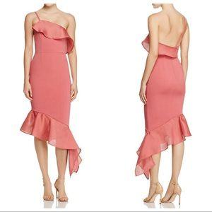 LA MAISON TALULAH Ruffled One Shoulder Party Dress